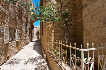holy land: Area Of Old Restored Jerusalem on a Sunny Day
