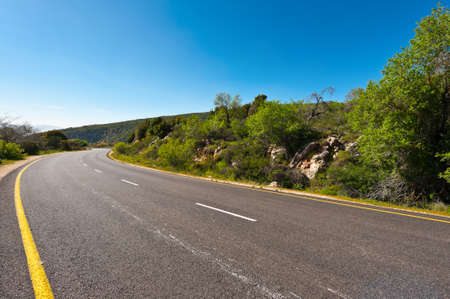 the golan heights: Asphalt Road in the Golan Heights, Early Spring