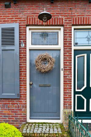 Grey Lacquered Door in the Dutch City