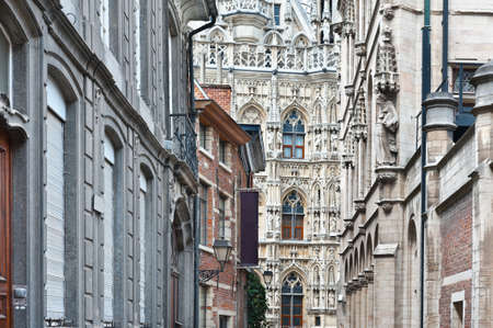 leuven: Architectural Background- Belgian City of Leuven Stock Photo