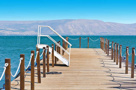 nature reserves of israel: Wooden Mooring Line on the Galilee Sea, Kinneret