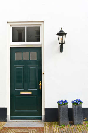 lacquered: Green Lacquered Door in the Dutch City