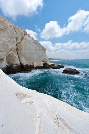 Rosh Hanikra Cliff near Israeli- Lebanese Border photo