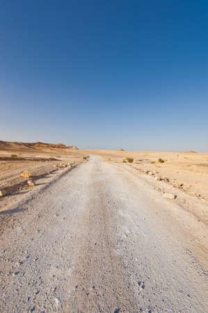 vadi: Road in Desert on the West Bank of the Jordan River
