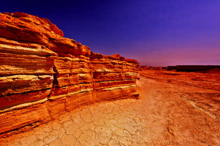 vadi: Sunset in Desert on the West Bank  Stock Photo