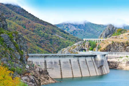 Dam of the Power Station in the Mountain of Cantabria, Spain photo