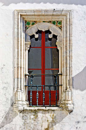 Portuguese Window with a balcony in the Style of Manueline photo