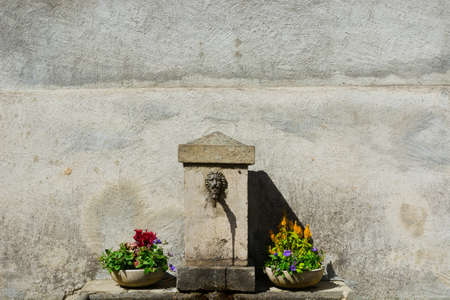 Old Drinking Fountain in Italy photo