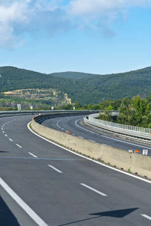 lacet: Winding Paved Road in the Lazio, Italy