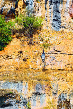Lamp on the Cliff in France photo