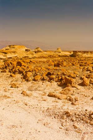 Judean Desert on the West Bank of the Jordan River photo