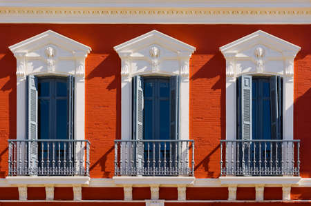 resplendence: The Renovated Facade of the Old Spain House Stock Photo