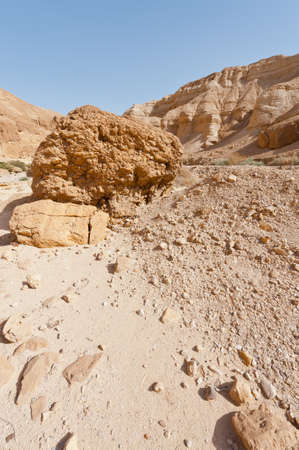 Big Stones in the Judean Desert on the West Bank  photo