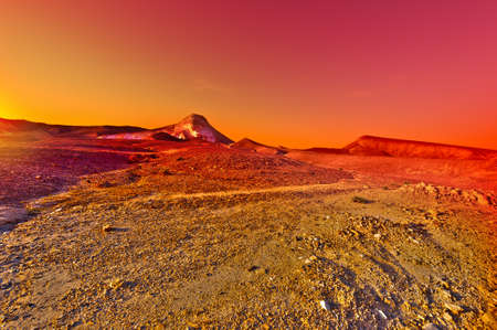 judean hills: Sunset over the Stony Desert in Israel