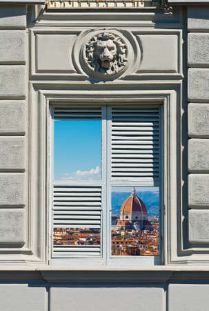 Surreal View of Florence through the Window  photo