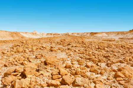 Stone Desert on the West Bank of the Jordan River photo