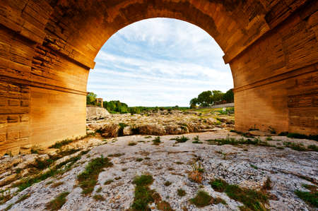 Ancient Roman Aqueduct Pont du Gard photo