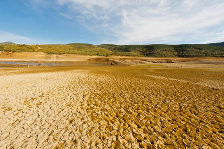 picos: River in the Dry Valley of Cantabrian Mountain, Spain