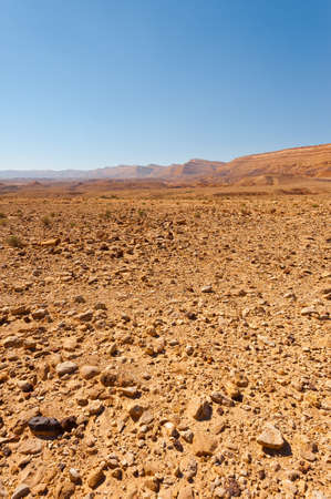 Stony Hills of the Negev Desert in Israel