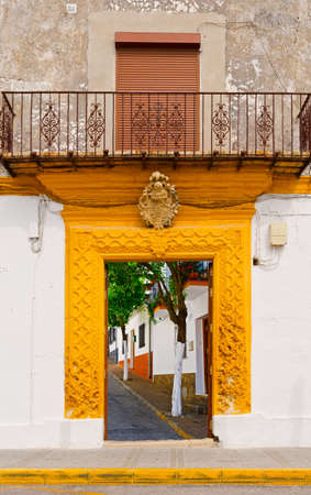 resplendence: Surreal View of the Street through the Gate in Spanish Town