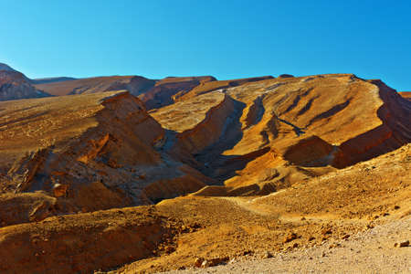 riverbed: Rocky Hills of the Negev Desert in Israel