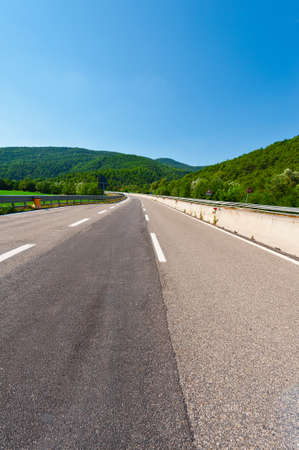 The Modern Highway  in the Tuscany, Italy photo