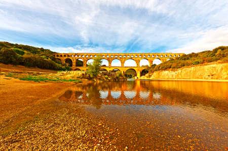 Ancient Roman Aqueduct Pont du Gard