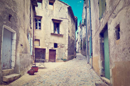 Old Street in the French City of Viviers photo