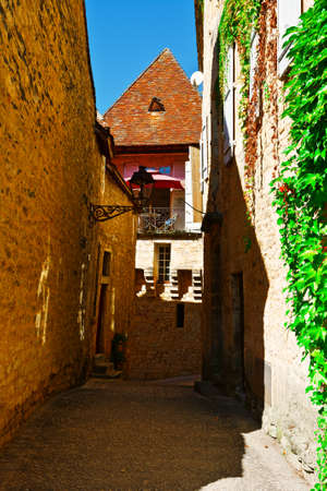 Deserted Street of the French City of Sarlat photo