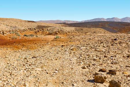 riverbed: Stones of Grand Crater in Negev Desert, Israel