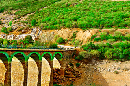 Bridge over Canyon in the Cantabrian Mountains, Spain photo