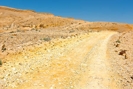 judean hills: Dirt Road in the Judean Desert on the West Bank