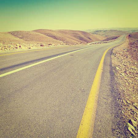 judean hills: Meandering Road in Sand Hills of Judean Mountain