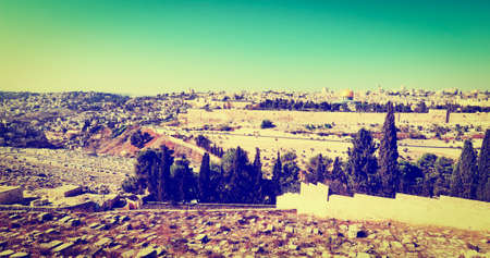 View to Walls of the Old City of Jerusalem photo