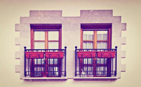 resplendence: The Renovated Facade of the Spanish House Stock Photo
