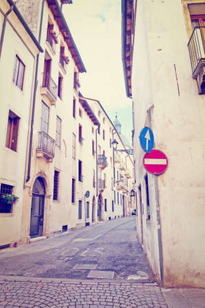 Narrow Alley with Old Buildings in Vicenza photo