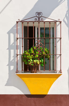 The Renovated Facade of the Old Spain House Stock Photo - 27865678