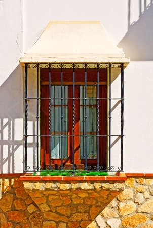 The Renovated Facade of the Old Spain House Stock Photo