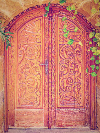 Wooden Door in Jaffa, Israel photo