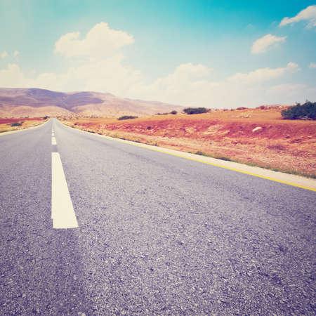 samaria: Asphalt Road in Sand Hills of Samaria