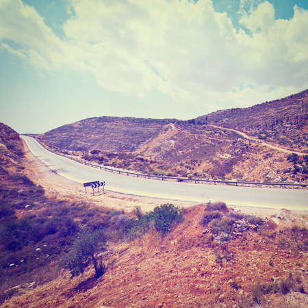 Meandering Road in Hills of Samaria photo