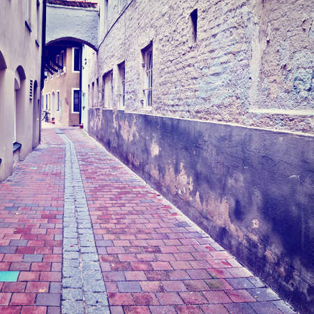 Narrow Alley of German City Landshut photo