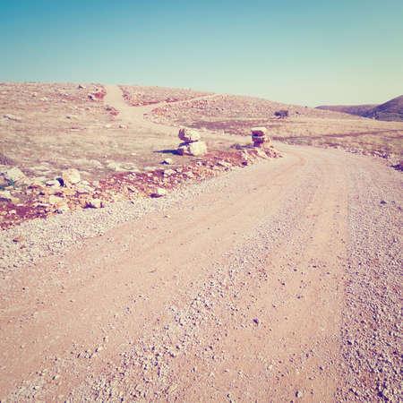 judean desert: Dirt Road in the Judean Mountains in Israel