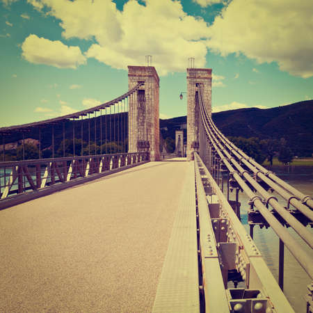 rhone: Cable-stayed Bridge over the River Rhone in France
