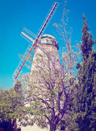 Montefiore Windmill in Jerusalem, Israel, photo