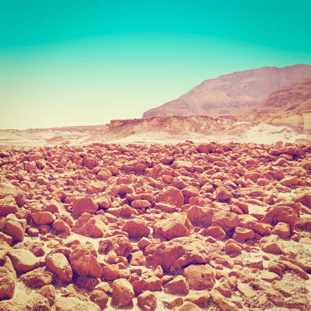 Stones in the Judean Desert on the West Bank of Israel photo