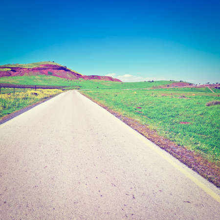in the heights: Asphalt Road in the Golan Heights