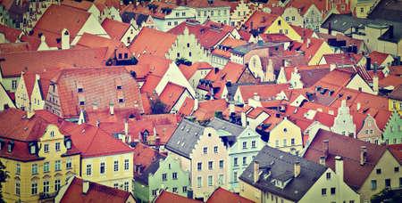 Birds Eye View on the Bavarian Town of Landshut, Germany photo