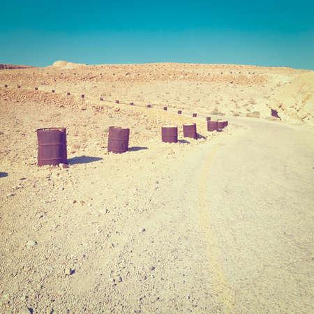 judean hills: Road in Sand Hills of Judean Mountains, Israel