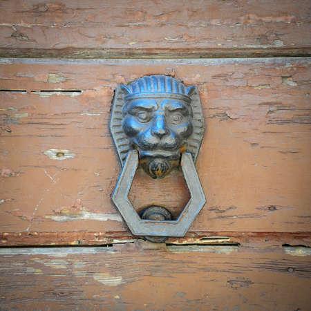 Lions Head as Door Knocker photo